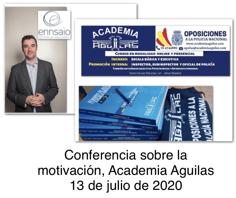 Conferencia sobre la motivación, Academia Aguilas 13 de Julio de 2020